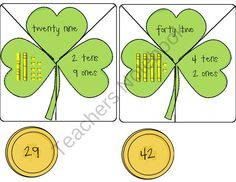 FREE Place Value Shamrock Puzzles product from Springs-Sweet-Rhythm on TeachersNotebook.com
