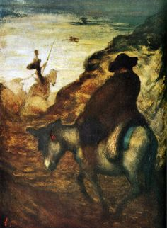 "Honoré Daumier, ""Don Quixote and Sancho Pansa,"" ca. 1870."