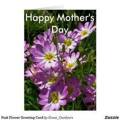 Pink Flower Greeting Card