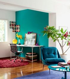 Colorful Interior Design Modern The Art of Modern Interior Design Colorful Interior Design Modern. The modern interior design has become the keywords when looking to revamp your home, and more peop… Living Pequeños, Fancy Living Rooms, Living Room Designs, Small Apartment Decorating, Decorating Small Spaces, Apartment Design, Apartment Interior, Apartment Therapy, Interior Decorating