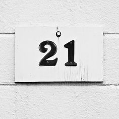 black white minimalist 21 number art photograph by mistflowerphoto, $12.00