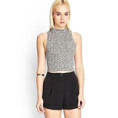 Gray crop top sweater Gray crop top sweater from Forever21. Size large, I bought it big so it wouldn't be as cropped and only show a peek of my stomach. I'm a size small normally. Cover picture is very similar to actual top. In new condition it's never been worn. I was unable to return due to tag removal. Forever 21 Tops Crop Tops