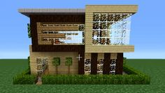 Minecraft 360: Modern House Tutorial (House Number 3)
