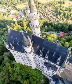 Ludwigs castle as youve probably never seen it before Unless youre a bird. This was the first really great shoot I did with my first Phantom 4 last year. Before that Id only flown over fields and boring stuff. After shooting the castle I was hooked. Germany Europe, Bavaria Germany, Beautiful Castles, Beautiful Buildings, Places To Travel, Places To Go, Germany Castles, Neuschwanstein Castle, Castle Ruins