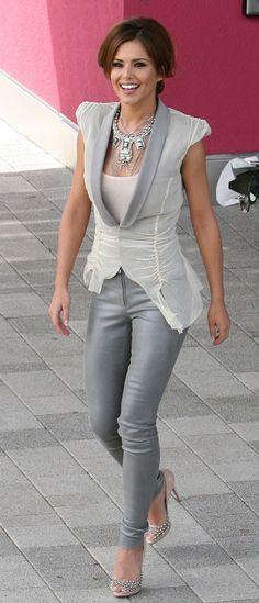 Cheryl Cole - Grey & White