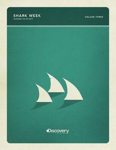 Designspiration — Minimal Poster Design - Shark Week on the Behance Network