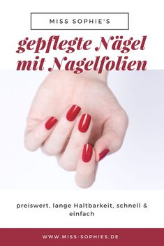 Nail films not only look good, are durable and easy to apply. By wearing the slides for a long time, Popular Nail Designs, Simple Nail Designs, Nagel Tattoo, Autumn Nails, Foil Nails, Simple Nails, You Nailed It, Glass Art, How To Apply