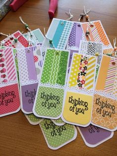 Jornaling tag idea or idea for bookmark ♥ Book Crafts, Diy And Crafts, Crafts For Kids, Paper Crafts, Diy Bookmarks, How To Make Bookmarks, Bookmark Ideas, Card Tags, Gift Tags