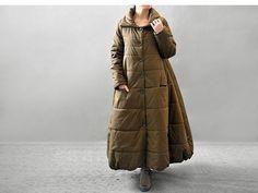 les femmes ainsi que manteau de coton de taille casaque long manteau