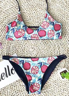 Calm and cool colors seem to set the mood and spirit of the season...Love the cute print and design of this swimwear. Just count me in!