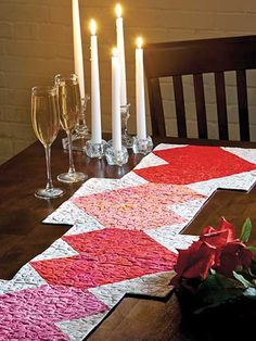 Quilting - Patterns for Precuts - Heart Fire Table Runner