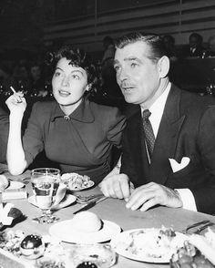 Ava Gardner: A Face Like No Other • itsagablething: Ava Gardner and Clark Gable...