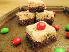 Peanut M&M's Buckeye Bars Recipe ~ These bars are a thick, soft chocolate fudge cookie bar topped with a rich, creamy peanut buttery fudge layer with peanut M&M's Sweet Desserts, Just Desserts, Delicious Desserts, Yummy Food, Brownie Recipes, Cookie Recipes, Dessert Recipes, Yummy Recipes, Bar Recipes