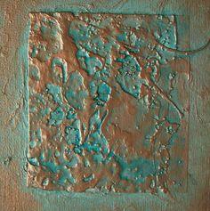 Refillable Journal Handmade Copper Verdigris Texture por ElisCooke