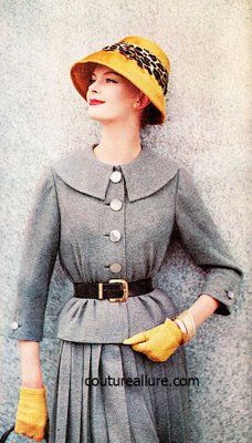 October 1959 issue of Ladies Home Journal magazine ~ I like the splash of yellow with the gray.