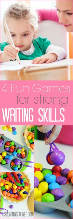 4 Fun and Simple Games to Build Strong Writing Skills - Integrated Learning Strategies Fine Motor Activities For Kids, Sensory Activities, Writing Activities, Writing Skills, Preschool Activities, Educational Activities, Sensory Motor, Preschool Writing, Opinion Writing