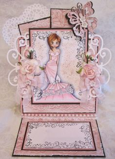 ScrapbookFashionista Designs by Rina: Romantic Saturated Canary Card