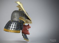 Japan samurai helmet game asset by Cassagi
