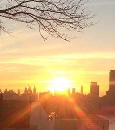 City scape sunrise