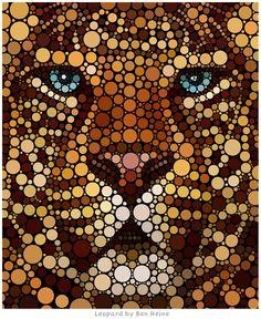 Digital Circlism – Amazing Artwork by Ben Heine | Inspirationi