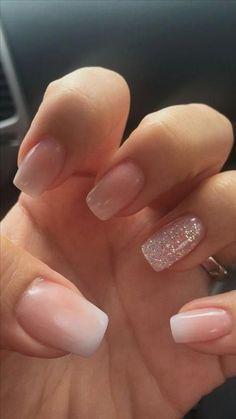 nails french tip glitter ~ nails french tip . nails french tip color . nails french tip with design . nails french tip glitter . nails french tip ombre . nails french tip acrylic . nails french tip coffin . nails french tip short Nail Design Glitter, Bling Nail Art, Bling Nails, My Nails, Nude Nails With Glitter, Matte Nails, Gold Nail, Acrylic Dip Nails, Blush Pink Nails