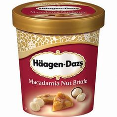 Häagen-Dazs Macadamia Nut Brittle ~ Craving this soooo bad. German Chocolate, Chocolate Ice Cream, Chocolate Fudge, Fondue, Haagen Dazs Ice Cream, Wholesale Food, Ice Cream Brands, Hagen, Caramel Brownies