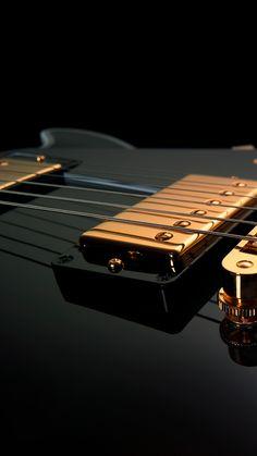 ↑↑TAP AND GET THE FREE APP! Lockscreens Art Creative Guitar Music Btack Minimalism HD iPhone 6  Lock Screen