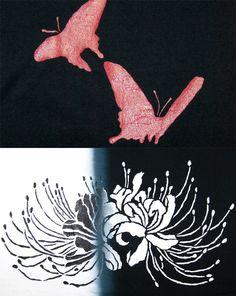 ぼかし染めTシャツ「彼岸花」