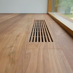 Idea for wood floor vents. Take extra pieces and make vents to match the flooring. Architecture Details, Interior Architecture, Interior And Exterior, Architecture Plan, Interior Minimalista, House Ideas, Home Projects, House Plans, Woodworking