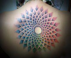 http://tattooideas247.com/colored-mandala/ Colorful Mandala Tattoo #BackInk, #Color, #ColoredMandala, #Mandala