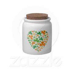 Lucky Clovers Candy Jars