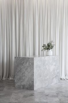 "White plaster walls and concrete floors helped Adam Kane Architects avoid an ""overly feminine"" aesthetic inside the Mariana Hardwick bridal boutique. Boutique Interior, Shop Interior Design, Store Design, Mariana Hardwick, White Linen Curtains, Polished Plaster, White Concrete, Eclectic Decor, Bridal Boutique"