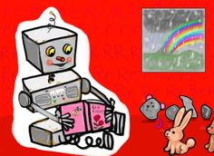 Rob the rusty robot reads books to rats and rabbits on rainy days. He reads about rings and red roses, as his rusty radio plays.