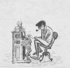 Concept art by Ken Anderson for 101 Dalmatians (1961)