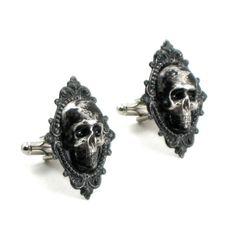 Gothic Wedding Cuff Links Creeping Death by ghostlovejewelry, $40.00
