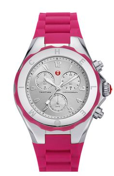 MICHELE 'Tahitian Jelly Bean' 40mm Watch | Nordstrom #pinkflambe