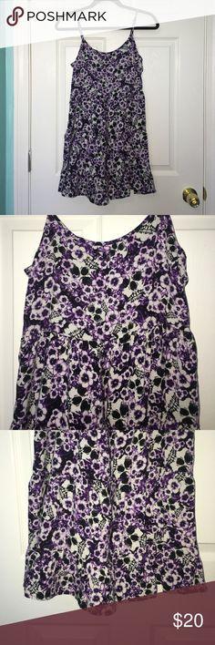 Flowey Dress Super cute summertime flows dress with skeleton and flower design. In good condition! Crisscross back detail. Hot Topic Dresses Mini