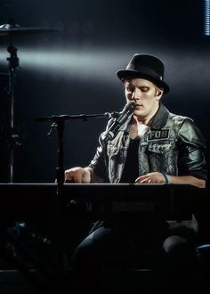 Patrick looking like the little angel he is playing the piano <3