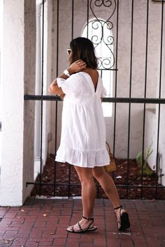 White Sundress, White Dress Summer, Little White Dresses, White Maxi Dresses, White Wedding Dresses, Classy Summer Outfits, Summer Shorts Outfits, Dress Outfits, Fashion Outfits