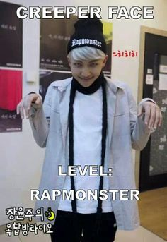 O.O rapmon be creeping...... // LOLOLJSJDBDIEJDJDJDKD namjoon rap monster