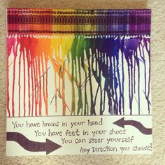 Dr seuss on pinterest dr seuss dr seuss art and for Melted crayon art with quotes
