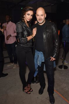 Matteo Sinigaglia of Replay attending the party with Madeline Ghenea.