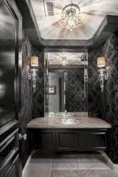 Nice 38 Amazing Gothic Bathroom Design Ideas. More at https://trendecor.co/2017/12/20/38-amazing-gothic-bathroom-design-ideas/