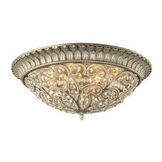 ELK LIGHTING Andalusia Collection Aged 8-light Flush Mount Fixture