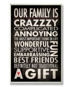 'Our Family' Wall Plaque | Daily deals for moms, babies and kids