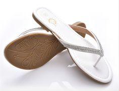 Women's Sequin Flip Flop Sandals