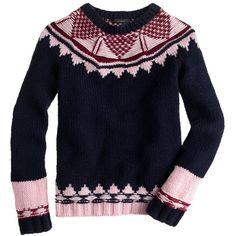 J.Crew Handknit Fair Isle sweater by None, via Polyvore