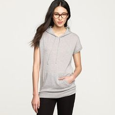 shortsleeved cashmere hoodie. Yes please. $258