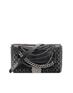 Calfskin Boy CHANEL flap bag with... - CHANEL