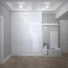 Прямоугольные кессоны на потолке призваны компенсировать высоту потолочных балок.